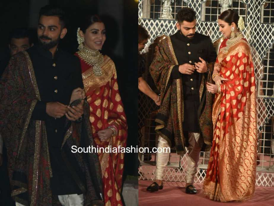 anushka virat wedding reception photos