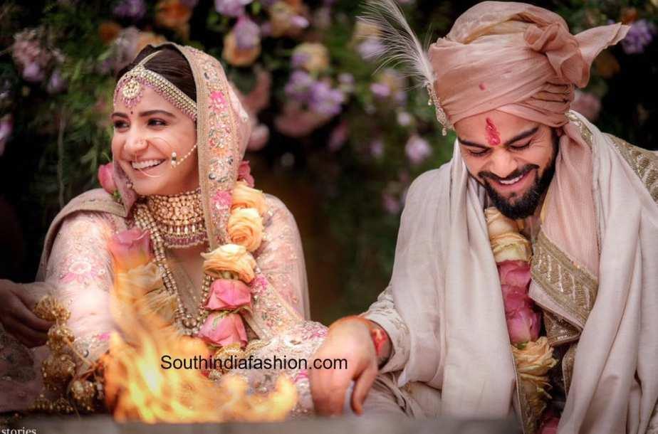 anushka sharma and virat kohli marriage photos