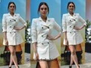 Aditi Rao Hydari in Zara for Samsung phone launch