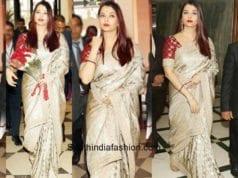 Aishwarya Rai in Sabyasachi at Women Achiever's Awards 2018 1
