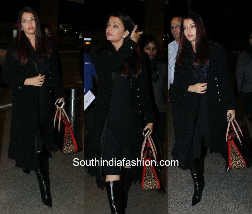 Aishwarya Rai in western wear at the airport