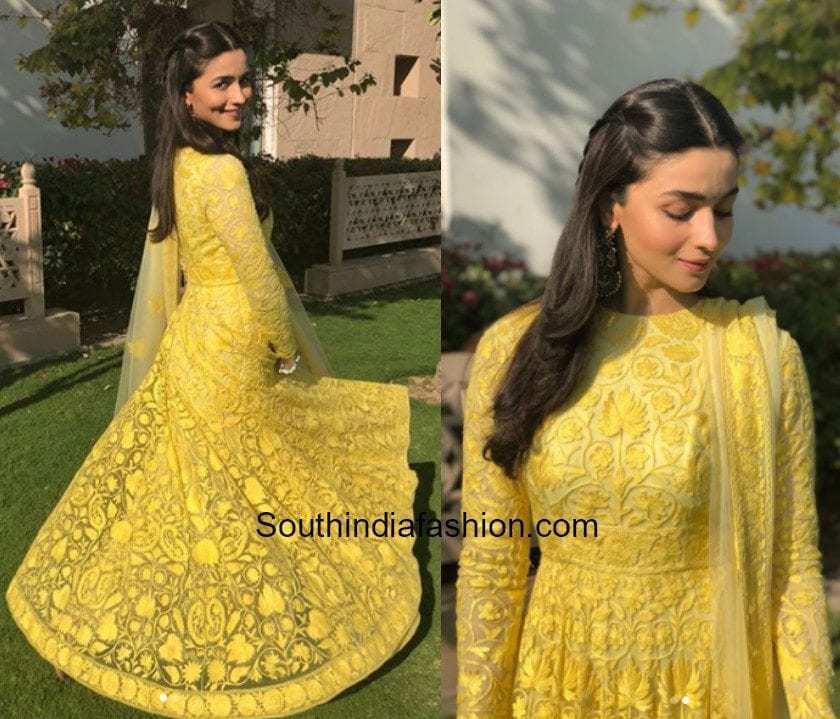 Alia Bhatt in Manish Malhotra for her friends mehendi in Jodhpur (2)