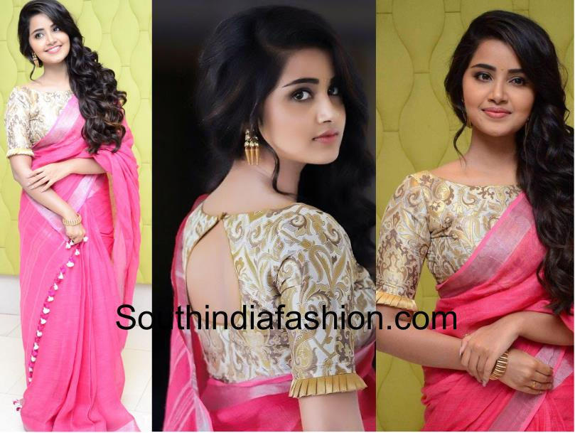 1e4f5dc41 Make Your Pink Saree Look More Interesting With Stylish Blouses ...