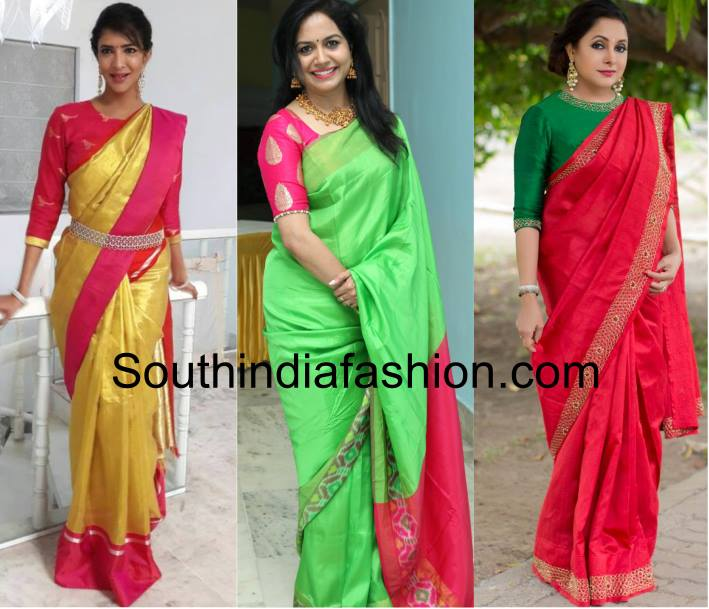 Blouse And Saree Combination Labzada Blouse