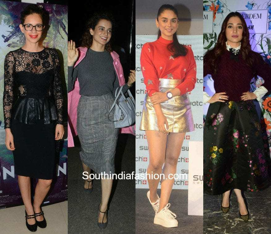 Celebrities in skirts