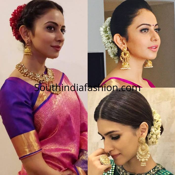 Trendy And Stylish Hairstyles With Sarees
