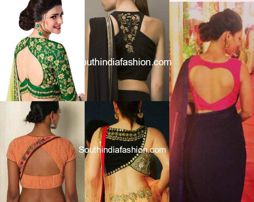 Cut Out Blouses for Designer Sarees