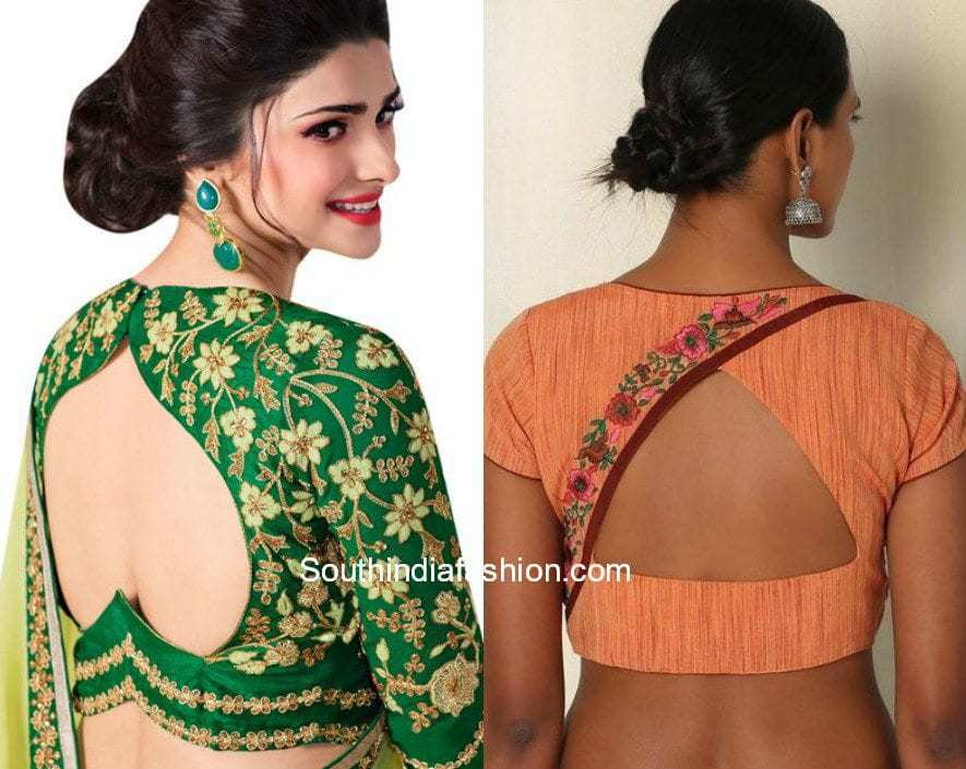 Cut Out Blouse Designs for Designer Sarees –South India