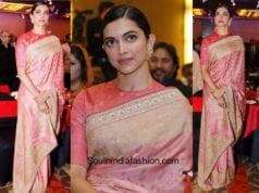 Deepika Padukone in Sabyasachi for an event in Delhi