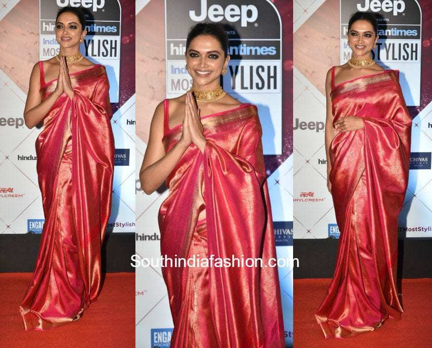Deepika Padukone in a Kanjeevaram Silk Saree at HT Most ...
