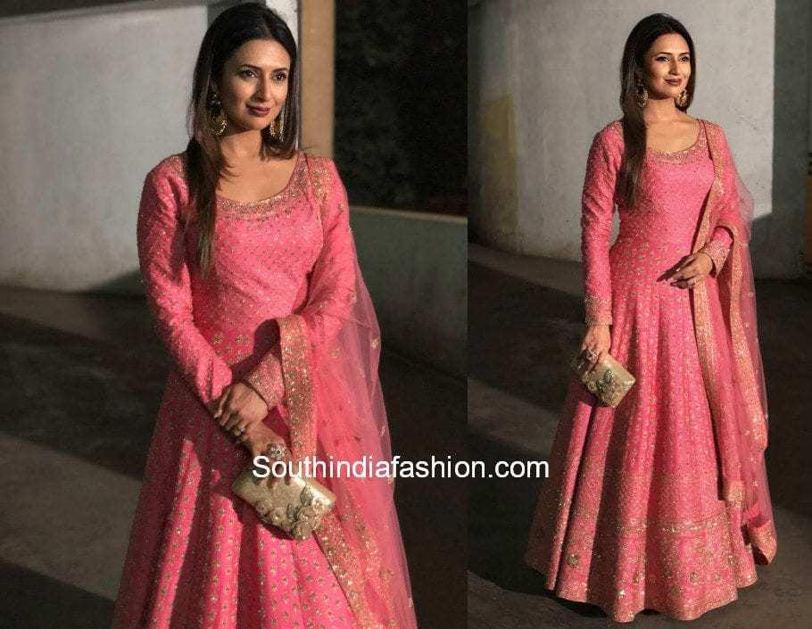 Divyanka Tripathi in Kalki Fashions at Umang The Police Show 2018