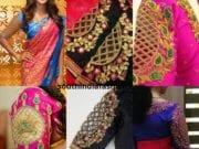 mesh style cutwork blouses