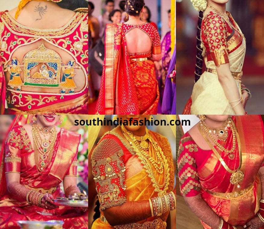 502f274df44514 15 Red Bridal Blouse Designs For The Brides Of 2018