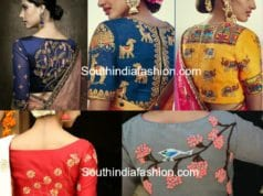 High Back Neck Embroidery Blouses Designs Featured 1
