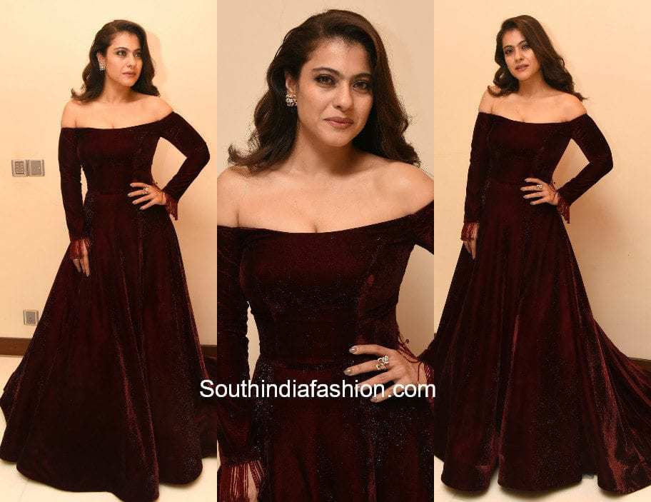 Kajol in Manish Malhotra at Jio Filmfare Awards 2018