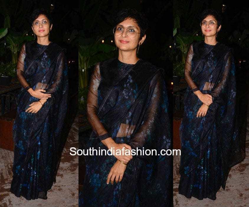 Kiran Rao in a saree at Sanjay Garg Store