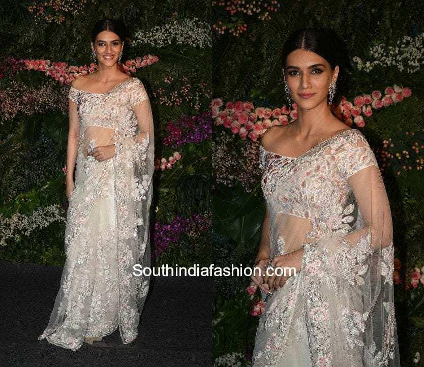 Kriti Sanon in a white saree