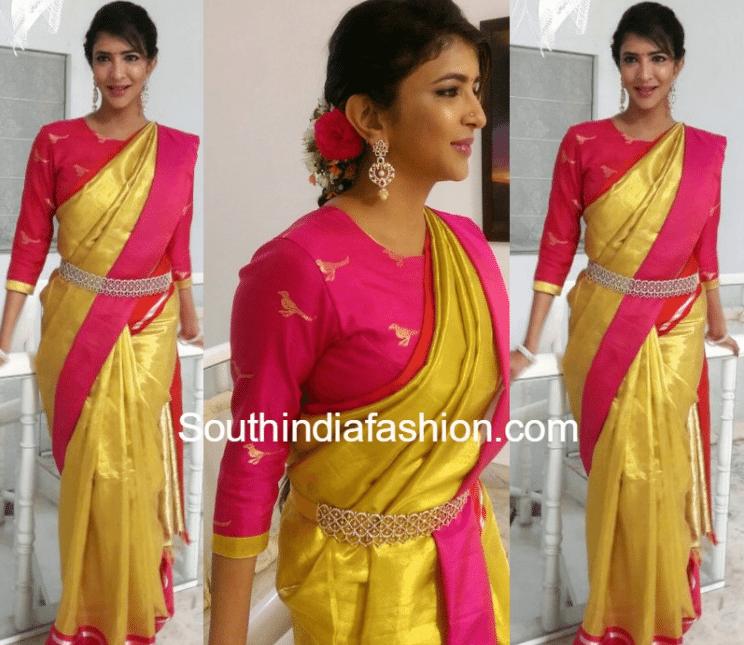 Lakshmi in yelllow saree