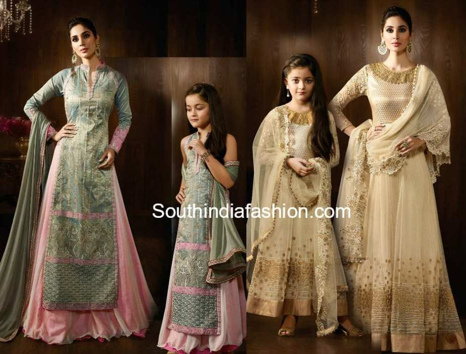 MOTHER DAUGHTER MATCHING INDIAN OUTFITS