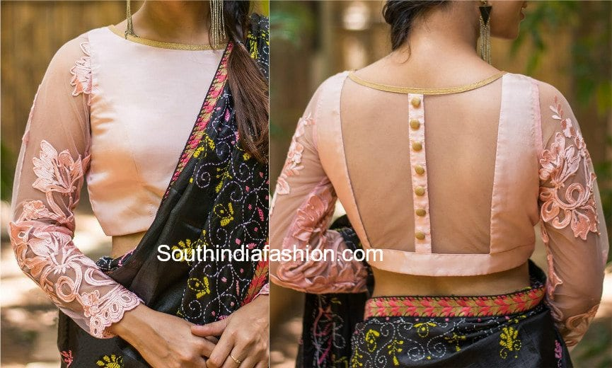 5 Stylish Net Blouse Designs South India Fashion