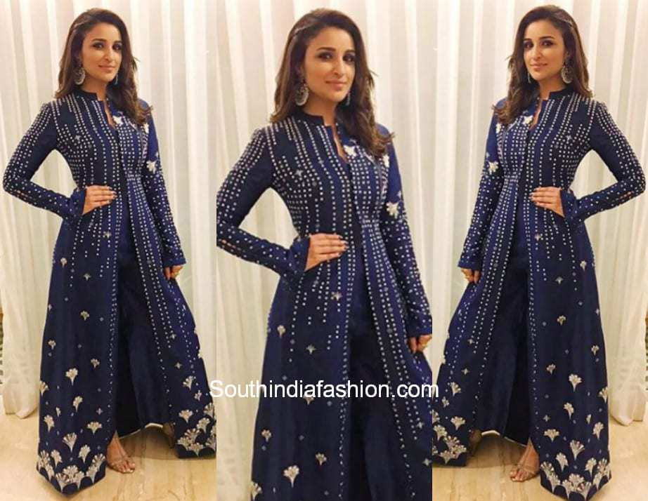 Parineeti Chopra in AM PM Fashions for a friends wedding in Mumbai