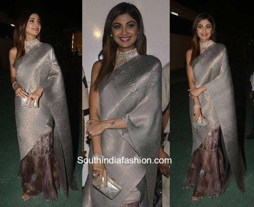 Shilpa Shetty In Kiran Uttam Ghosh South India Fashion