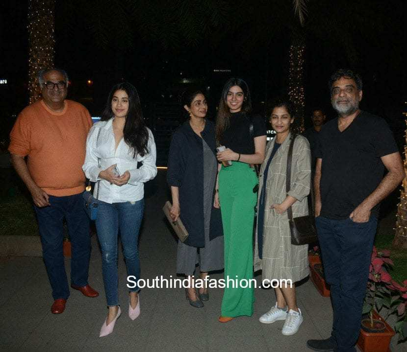 Sridevi Kapoor with family