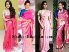 Stars dressed in pink coloured sarees