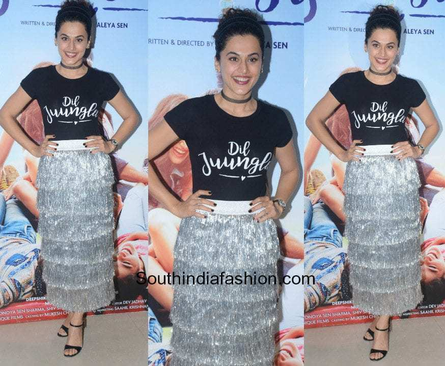 Taapsee Pannu in Madison for the trailer launch of Dil Junglee