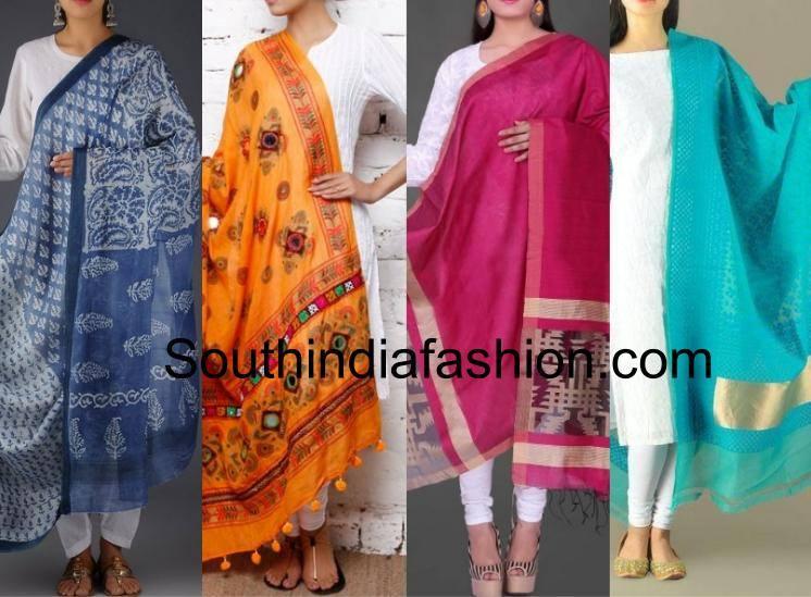White dresses and colourful dupattas