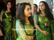 actress bhaama silk saree at bhavana naveen wedding