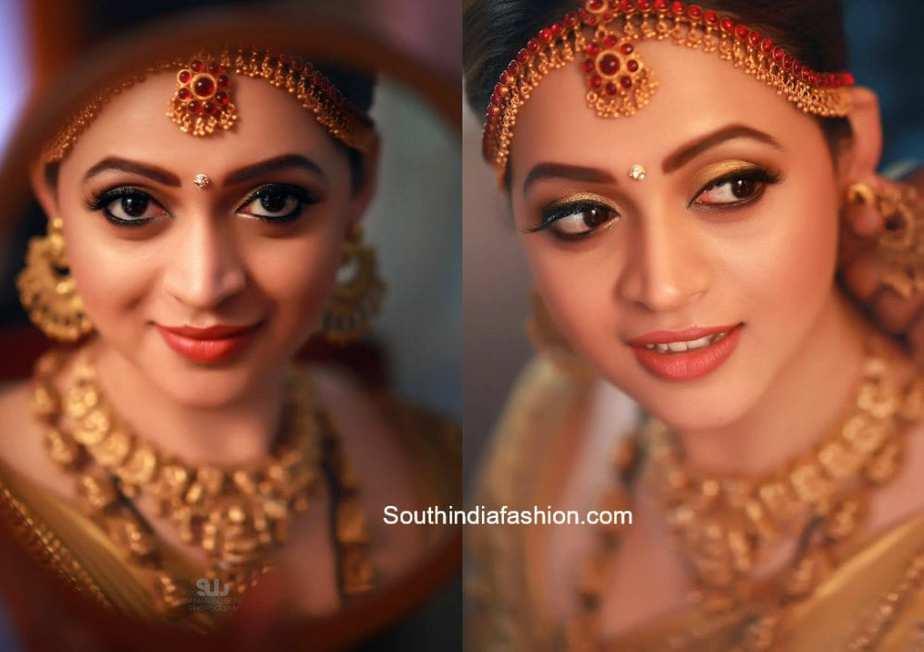 actress bhavan wedding makeup