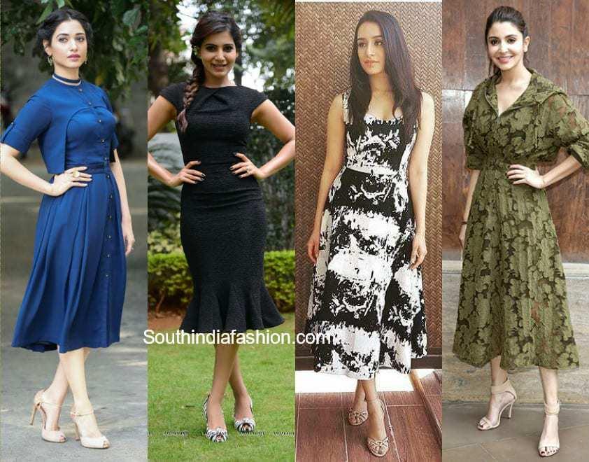 bollywood actress in midi dress
