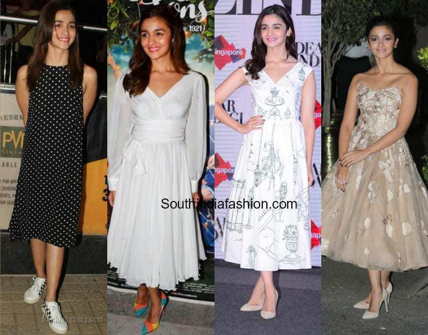 alia bhatt in midi dresses