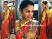 andrea jeremiah in pattu saree