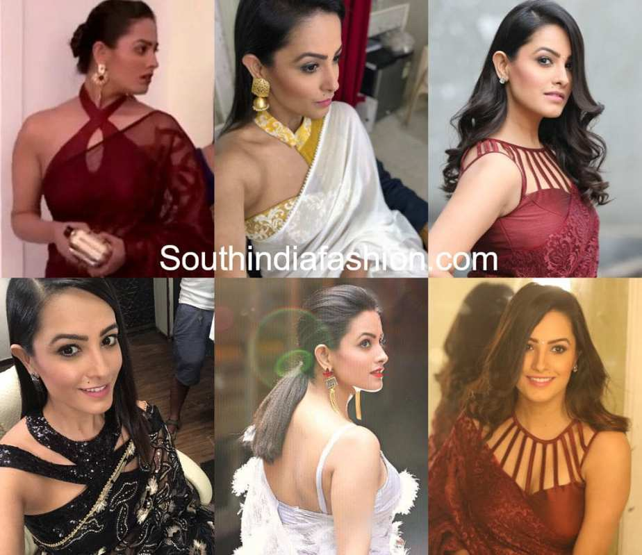 0df6958cb1e3b1 17 Ultra Stylish Blouse Designs Sported by Anita Hassanandani Recently