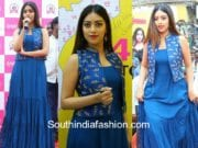 anu emmanuel at mobile store launch in bapatla blue dress