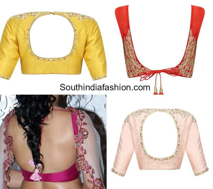 blouse back neck designs 2018