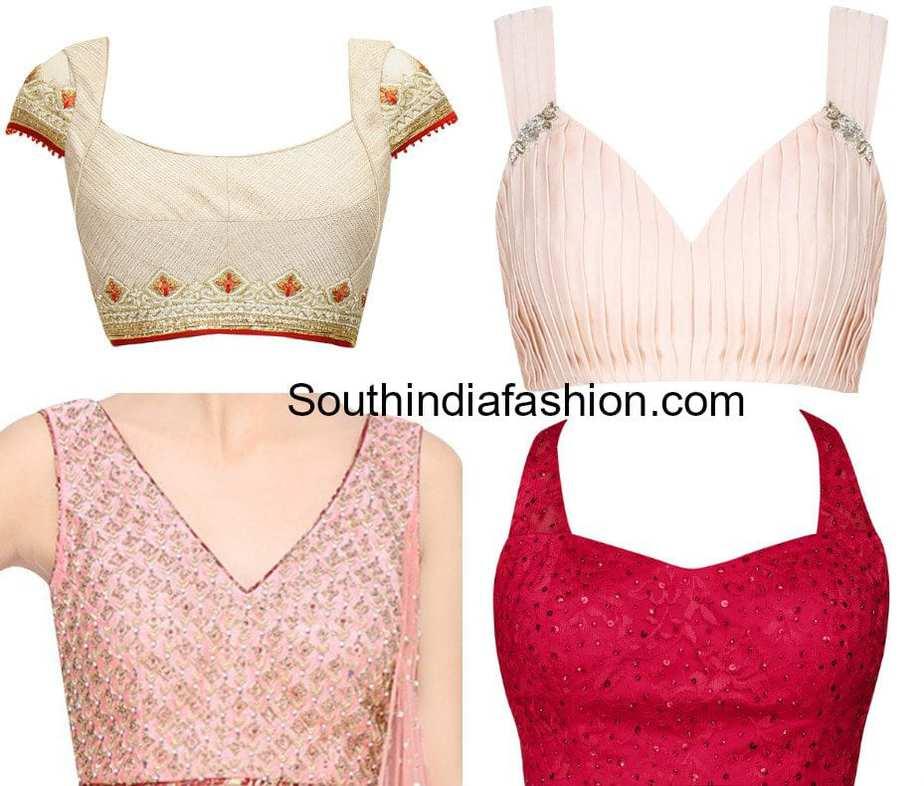 blouse front neck designs 2018