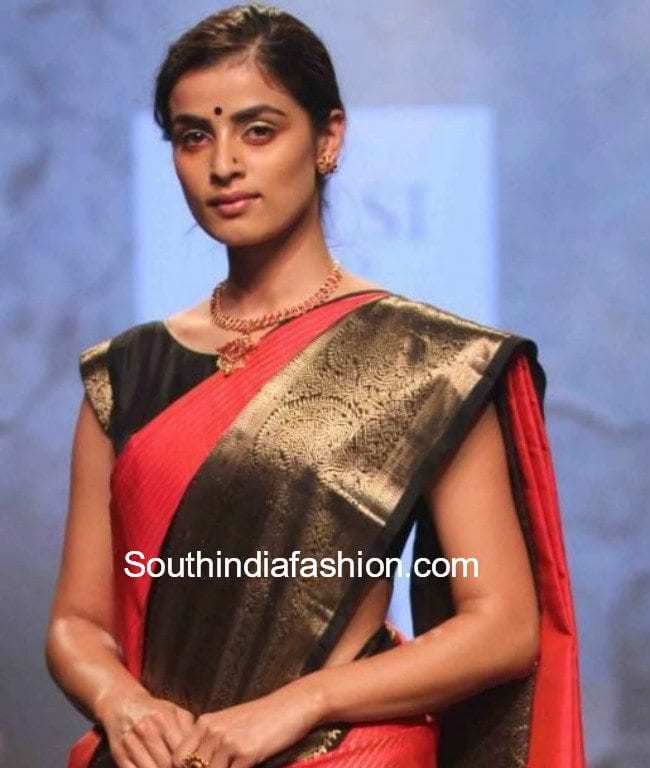boat neck cap sleeves blouse for pattu sarees