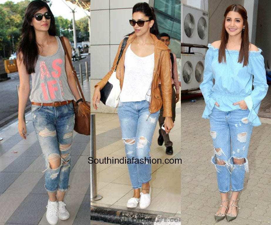 convert regular jeans to torn jeans