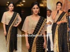 chandini chowdary black saree pants