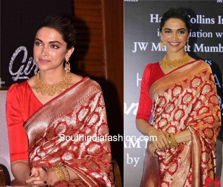 banaras silk saree with plain blouse