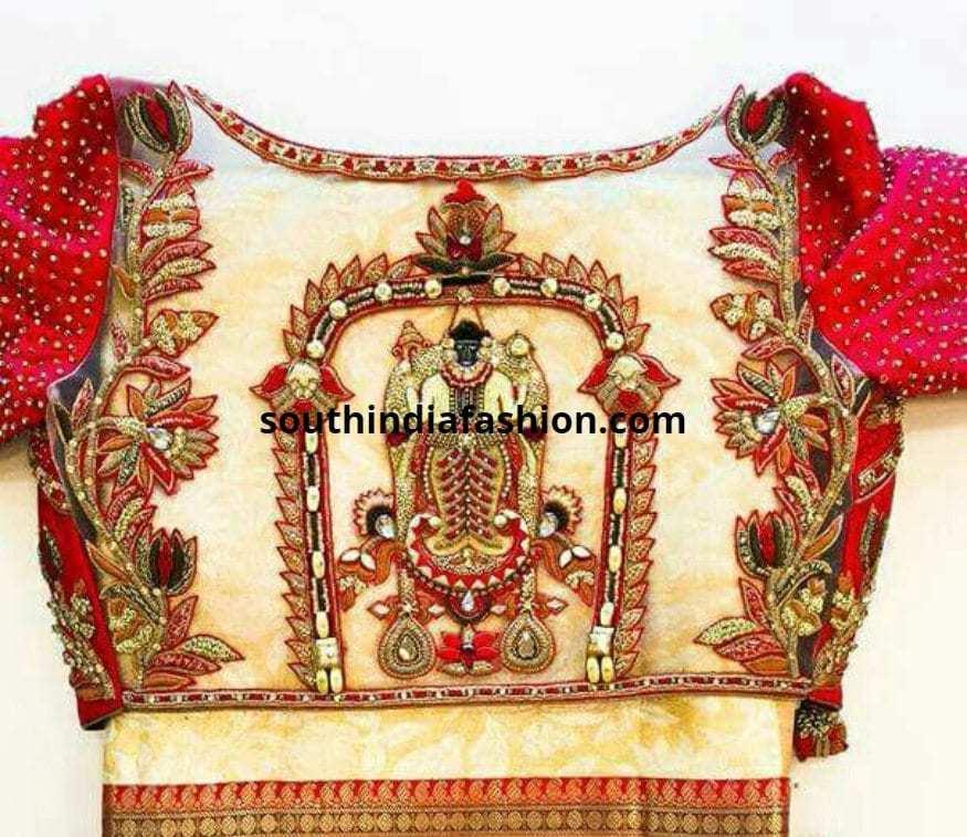 divine saree blouses sheer back