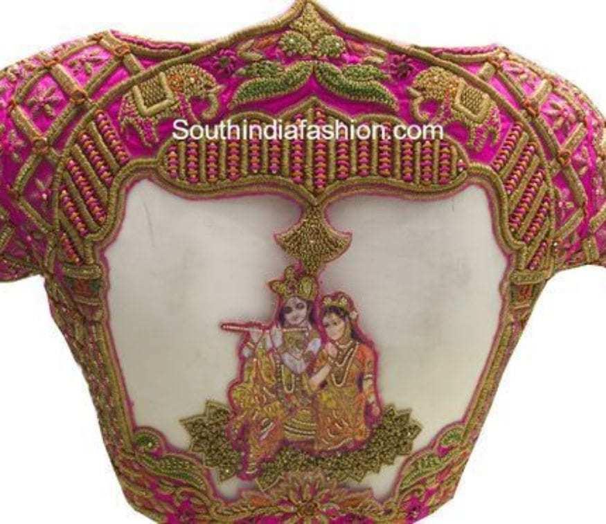 divine saree blouses for pattu sarees