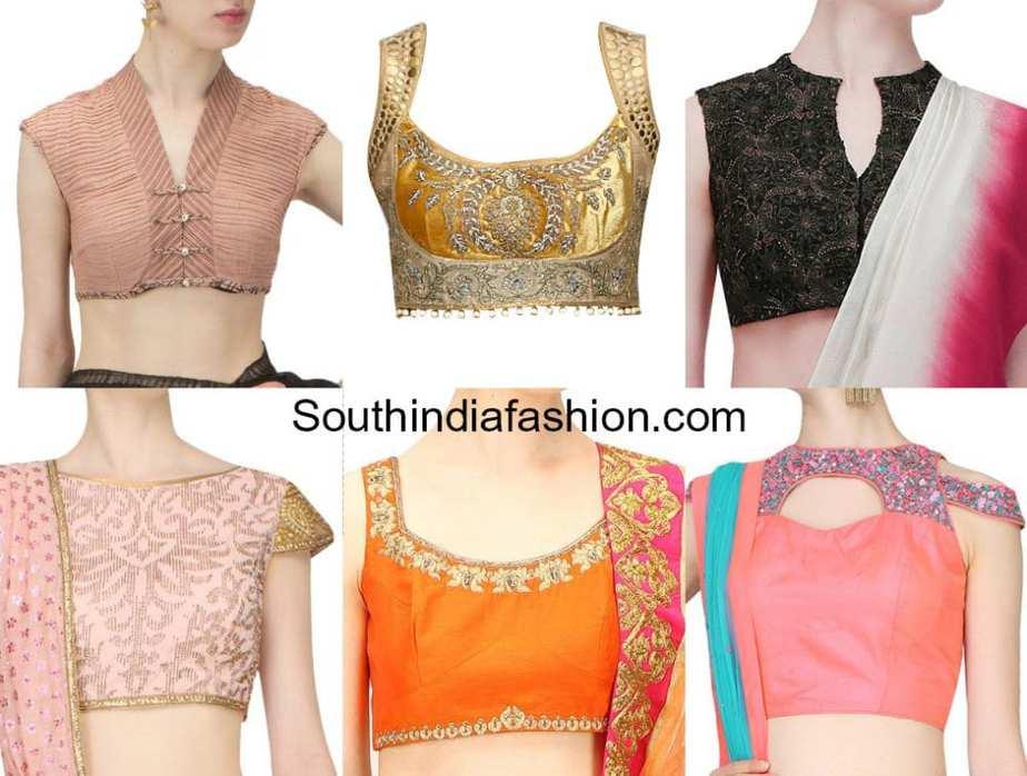 blouse front neck designs