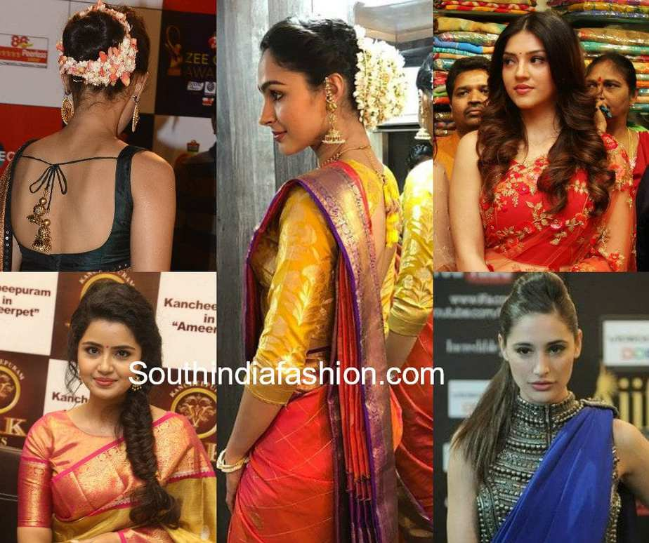 hairstyles with sarees