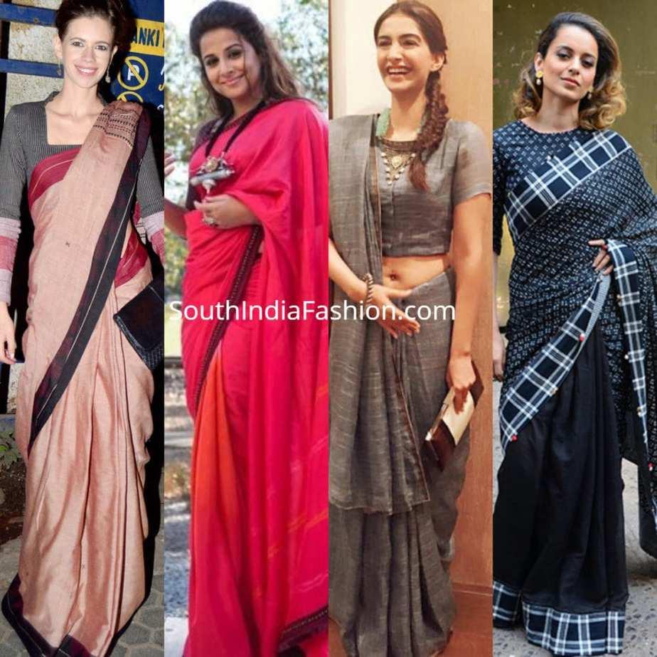 6 Graceful Saree Looks Of Kangana Ranaut At The Airport