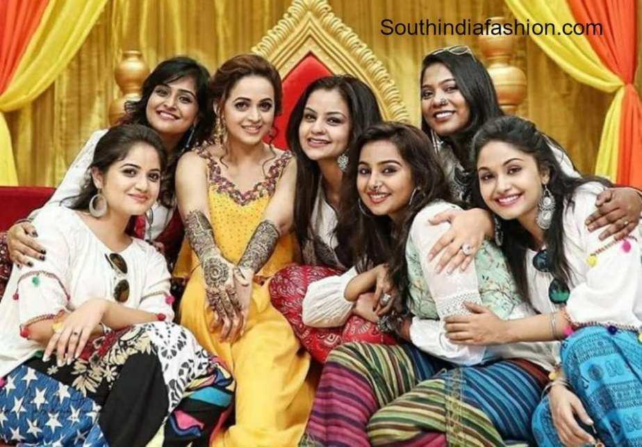 actress bhavana mehendi function