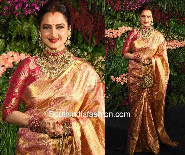 pattu saree with banaras silk blouse